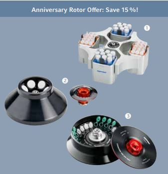 15% rabatt på utvalda Eppendorf rotorer