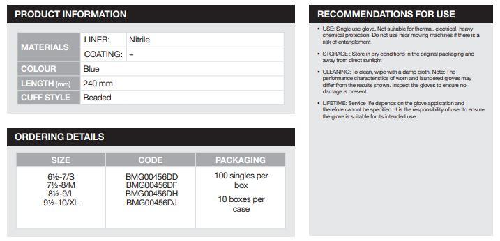 Benchmark-Nitrile-Powder-Free-Single-Use-Glove