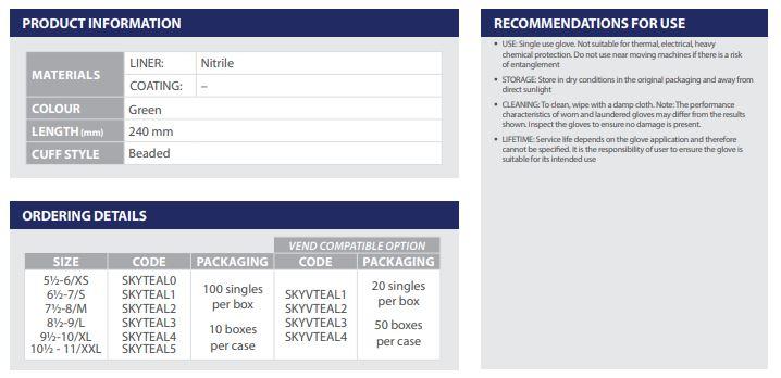 Skytec-Nitrile-Powder-Free-Single-Use-Protection-TEAL™-Nitrilhandskar-2